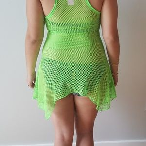 Swim - Must Have Lime Green Mesh Cover Up